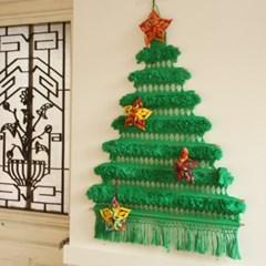 크리스마스 트리배너 그린(M)+오너먼트세트