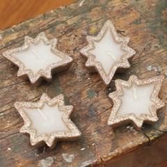 실루엣별빛 티라이트 4개입/별모양캔들/크리스마스_(103597592)