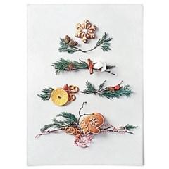 패브릭 포스터 F319 인테리어 천 액자 크리스마스 트리 C