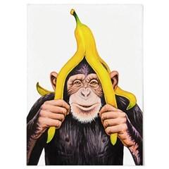 패브릭 포스터 F320 동물 그림 액자 침팬지 바나나 A