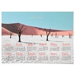2020 패브릭 천 포스터 대형 달력 사막 풍경 Deadvlei