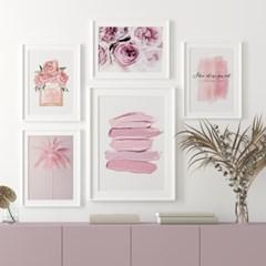 핑크 인테리어 그림 액자 30종