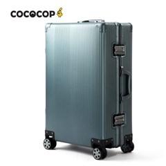 코코캅 델라 20인치 기내용 블루 알루미늄 100% 여행용 캐리어