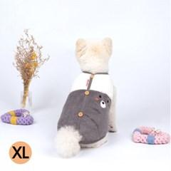 코코앤샤샤 리틀베어 베스트 (그레이) (XL) - d