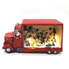 크리스마스오르골 장식 산타마을트럭