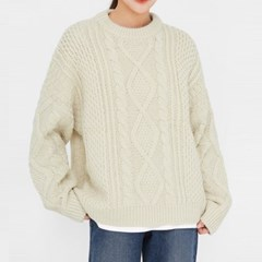 add beet cable round knit_(1390390)