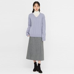 noble cable v-neck wool knit_(1389684)