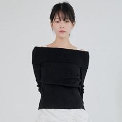 off shoulder slim knit (2colors)_(1390217)
