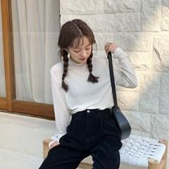 하프 넥 텐셀 티셔츠_(1644333)