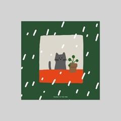 POSTCARD. 빗속의 고양이