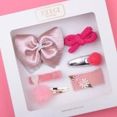 젬마 핑크 헤어핀 선물세트(6P)