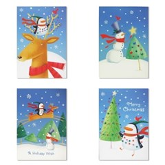 홀마크 크리스마스 카드 4종