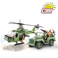 코비 COBI 지프 윌리스 MB&헬리콥터 세트 24254_(1625884)
