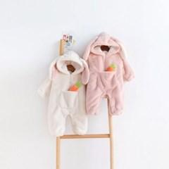 돌핀웨일 뽀송바니 털우주복(66~90cm)