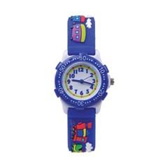 [키즈스퀘어]키즈 3D 프린팅 젤리 시계 - Ab659 블루