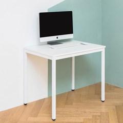 어썸 800 입식 컴퓨터 책상 화이트 철제 테이블