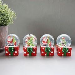 크리스마스 선물 미니 워터볼 (중) 4P