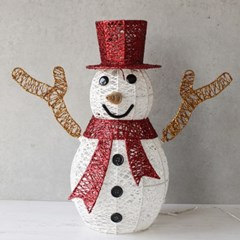 LED 빨간모자 눈사람 40cm_(2811078)