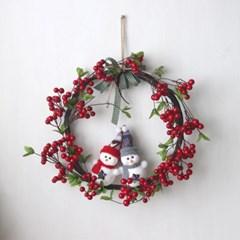 붉은 열매 리스-겨울(2style)