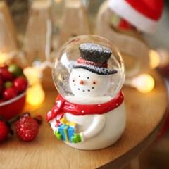 크리스마스 인형 워터볼 스노우볼 6.5cm (눈사람)