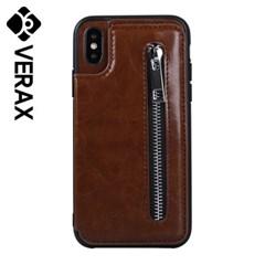 아이폰X 스탠드 컬러 카드 지갑 가죽 케이스 P400_(2148378)