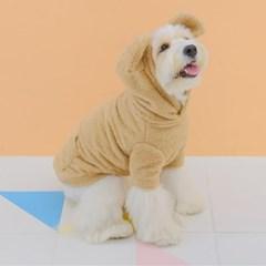 Teddy Bear Fur Hoodie (Beige)