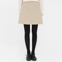 cute line wool mini skirt (s, m)_(1391196)