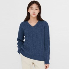 motive cable v-neck wool knit_(1394127)