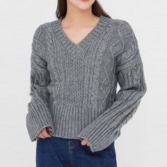 endolph cable v-neck knit_(1394126)