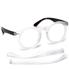 브이선 그릴아미드 TR 명품 뿔테 투명 안경테 MILKY-10-MOR-TO(50)