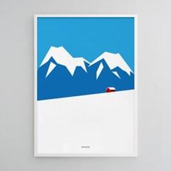 겨울 산장 M 유니크 인테리어 디자인 포스터