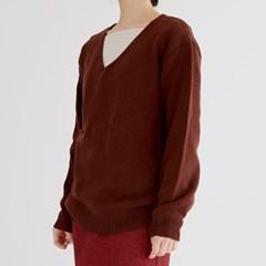 simple v neck knit (2colors)_(1391375)