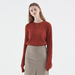 CABLE KNIT TOP_BRICK