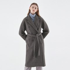 MUFFIN WOOL DOUBLE COAT_DARK GRAY