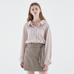 SILKY SHIRTS BLOUSE_BEIGE