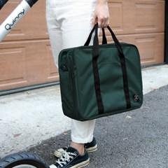 코니테일 듀얼 트렁크백 - 다크그린 (가벼운 기저귀가방 숄더백)