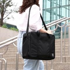 코니테일 듀얼 트렁크백 - 블랙 (가벼운 기저귀가방 숄더백)
