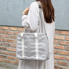 코니테일 듀얼 트렁크백 - 그레이 (가벼운 기저귀가방 숄더백)