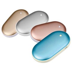 USB 충전식 보조배터리 양면발열 손난로 TK-HWD01