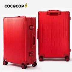 코코캅 델라 24인치 수화물 레드 알루미늄 100% 여행용 캐리어