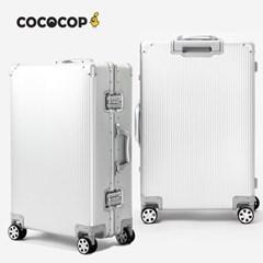 코코캅 델라 24인치 수화물 실버 알루미늄 100% 여행용 캐리어