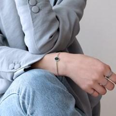 (92.5 silver) onyx chain bracelet