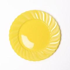 칼라 파티접시 라운드 19cm-옐로우(6입)