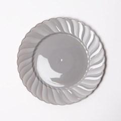 칼라 파티접시 라운드 19cm-실버(6입)