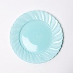 칼라 파티접시 라운드 19cm-민트(6입)