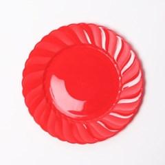 칼라 파티접시 라운드 19cm-레드(6입)