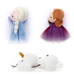 디즈니 겨울왕국2 새근새근 잠자는 엘사 안나 올라프인형