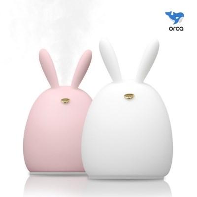 [2개 구매시 필터 10개] 오르카 토끼 USB 미니가습기 SSB-HMD1901-R