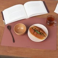 아날로그 가죽 테이블 식탁매트 사각_(1907859)