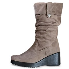 kami et muse Shirring suede wedge long boots_KM19w166